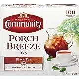 Community Coffee Porch Breeze Black Tea Bags, 100 Count, 8.0 oz, (Pack of 6)