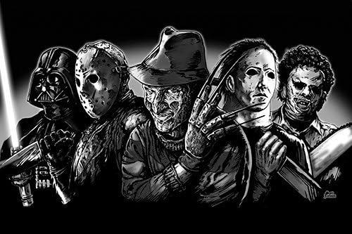 Monsterman Graphic 3 Sizes Super Villians Art Poster Print Freddy Krueger Jason Voorhees Michael Myers Leatherface Darth Vader By Artist Scott Jackson