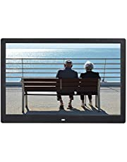 14-inch Digital Photo Frame Electronic Photo Frame Ultra-Narrow Side Support 1080P Wall-Mounted Advertising Machine Durable (Color : Black)