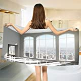 smallbeefly Modern Bath Towel Fancy House in Urban City Scenery with Country Home View from Windows Print Customized Bath Towels White and Eggshell Size: W 19.5'' x L 39.17''