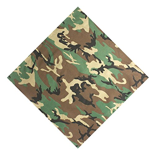 xsby Camouflage Army Camo Bandana, 12 Pack Multi-Purpose Cotton Cowboy Bandanas Headband for Men and Women Camouflage