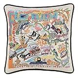 Catstudio Hand-embroidered Pillow - Florida