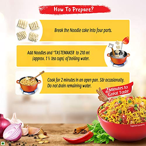 Maggi 2-Minute Noodles Masala, 70g (Pack of 12) 5