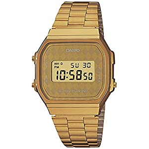 Casio Unisex Classic A168WG-9BWVT Vintage Watch Gold