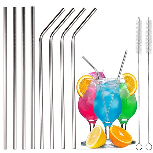 Stainless straight Reusable Drinking Rumblers