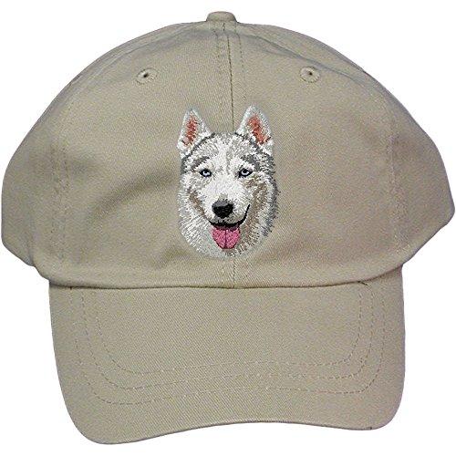 Cherrybrook Dog Breed Embroidered Adams Cotton Twill Caps - Stone - Siberian ()