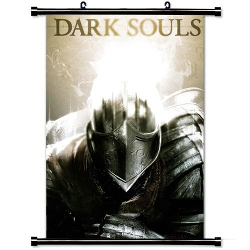 Wall Posters Wall Scroll Poster with Dark Souls Armor Light Helmet Home Decor Fabric Painting 23.6 X 35.4 Inch