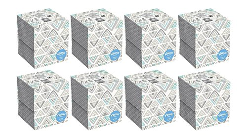 Kleenex Everyday Facial Tissue Upright, 80 Count, 8 - Northern Cube Quilted