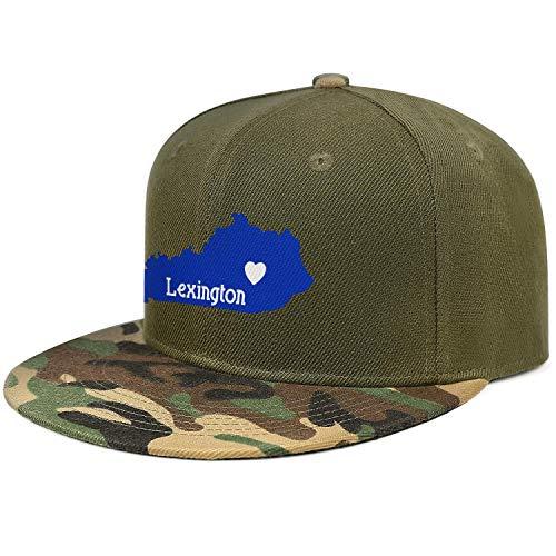 (NIANLJHDp Unisex Man Low Baseball Cap Lexington KY Heart Outdoor Cotton Dad)