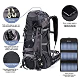 External Frame Hiking Backpack 68L with 20 Watts