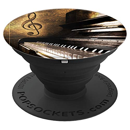 - Classic Piano Pop Socket Treble Clef Keys Music - PopSockets Grip and Stand for Phones and Tablets