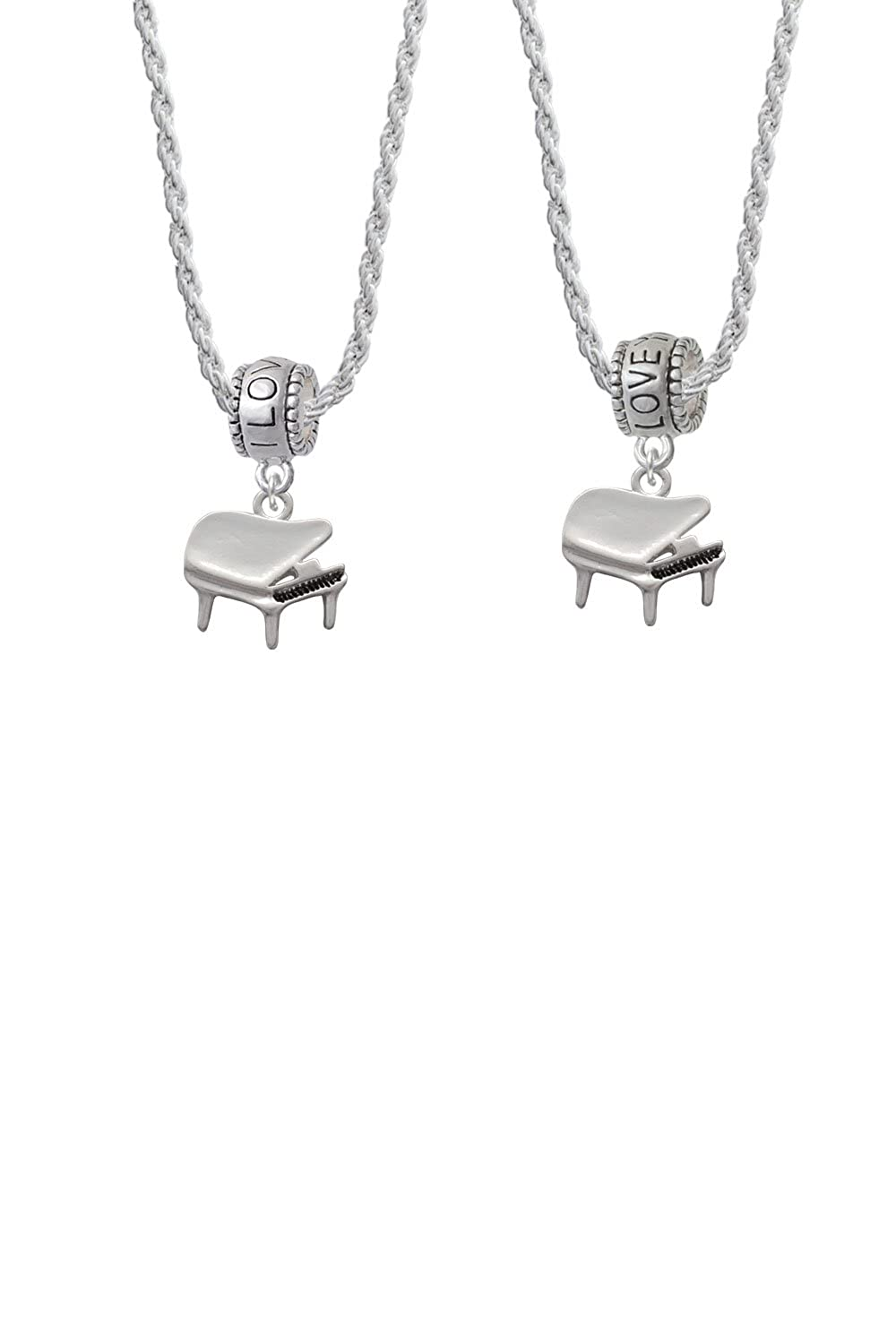Piano I Love You More Bead Necklace Set of 2
