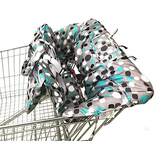 Shopping Cart Cover | High Chair and Grocery Cart Cover for Babies, Kids, Infants & Toddlers | 2in1 Baby Shopping Cart Covers Fits Highchairs and Shopping Cart Seats ✮ Includes Free Carry Bag ✮ from Brain Architect Child