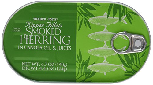 (Trader Joe's Kipper Fillets Smoked Herring in Canola Oil and Juices)
