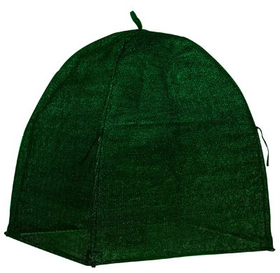 NuVue 20253 36'' x 36'' x 38'' Green Frost Proof Winter Shrub Protector Covers - Quantity 6