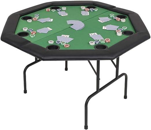 ghuanton Tablero de póker Plegable en 2 Octogonal Verde 8 ...