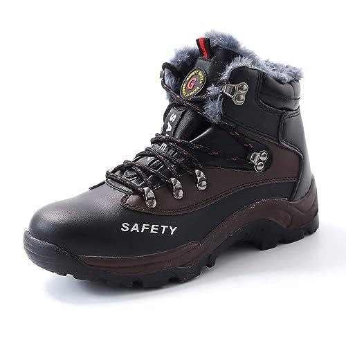 Botas de Seguridad Mujer Hombre Trabajo S3 Puntera de Acero Zapatos Impermeable Zapatillas de Senderismo Gr