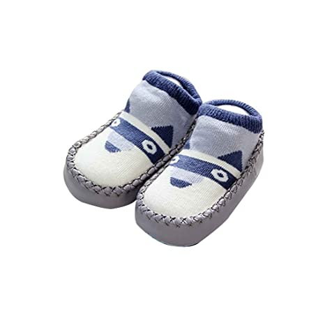 Bobury Calcetines antideslizantes para bebés con suela blanda Calcetines calcetines para niños recién nacidos para caminar