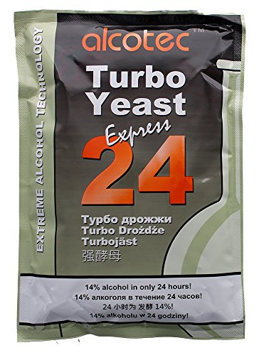 - Alcotec 24-hour Turbo Yeast, 205 grams