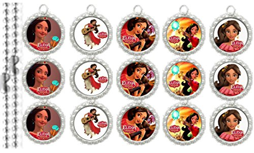 15 Special Elena of Avalor Silver Bottle Cap Pendant Necklaces Set 1 (Set Cap Pendants Bottle)