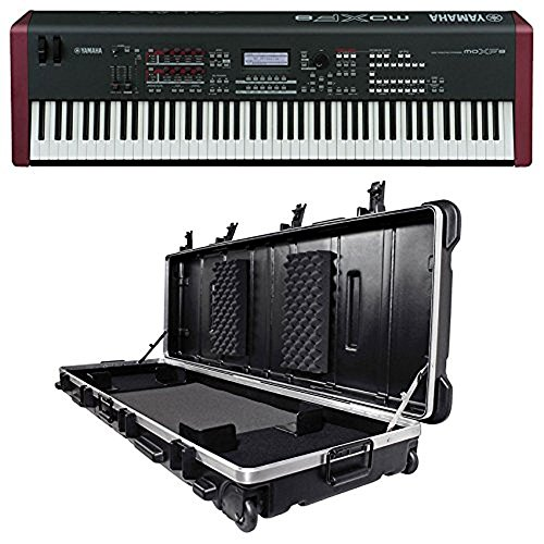 Yamaha MOXF8 88 Key Workstation Keyboard w/MOX8+Motif XF8 Sound+SKB Case by Yamaha