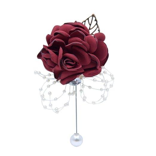 Boutonniere - Broche de solapa con diseño de flores hecho a ...
