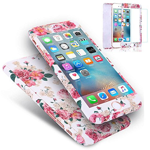 - For iPhone 8 Plus Case,L-FADNUT 3in1 Hybird 360 Full Body Protective Hard Slim Flower Pattern Bumper Case and Tempered Glass Screen Protector Dual Layer Case for iPhone 8 Plus 5.5