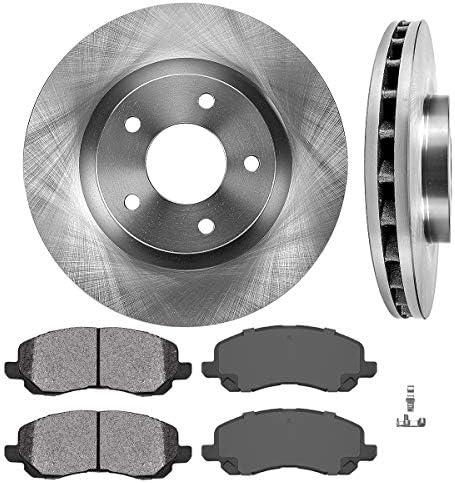TA042043-2 Max Brakes Front /& Rear Premium OE Rotors and Metallic Pads Brake Kit