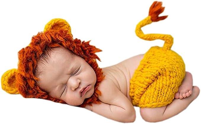 DELEY Unisex Bebé León Disfraz Infantil Ropa Traje de Fotografía ...