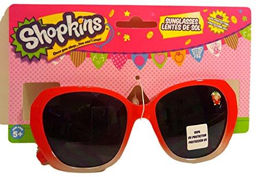 Shopkins Kids Sunglasses Red Strawberry - Uv Protection 100 Kiss Sunglasses