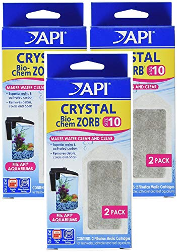 API (3 Pack) Crystal Bio-Chem Zorb Internal Filter Cartridges, Size 10, 2 Filters - Zorb Pouch Nitra