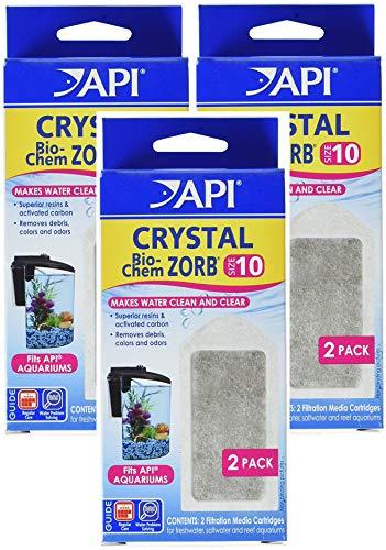API (3 Pack) Crystal Bio-Chem Zorb Internal Filter Cartridges, Size 10, 2 Filters Each