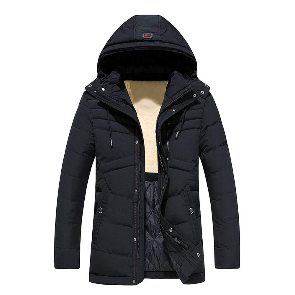 Rambling Mens Winter Warm Hoodie Zipped Thicken Coat Puffer Jacket