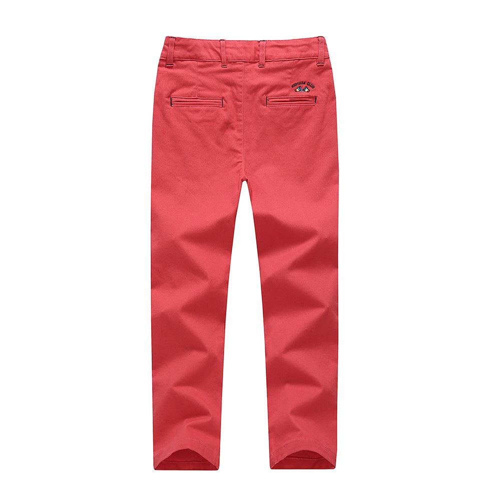 basadina Boys Shorts Cotton Chino Shorts Fitted with Adjustable Waist Pants Kids Summer Clothes 4-14 Years