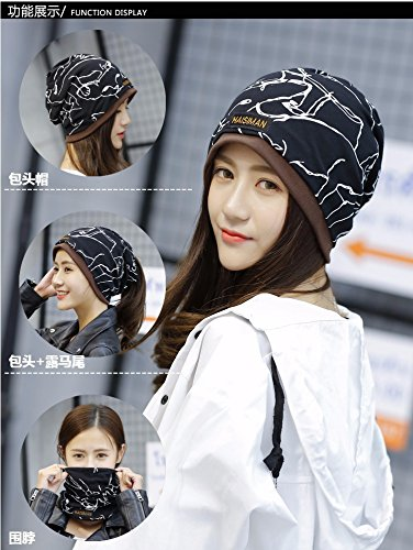 Generic The new animal bordered cap men and women fall and winter warm double printing piles of Korean fashion hat cap head protection cap month of by Generic (Image #3)