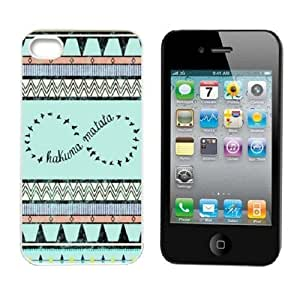 ABC Hakuna Matata Aztec Tribal Pattern Snap on Hard Case Cover for Iphone 4 4g 4s