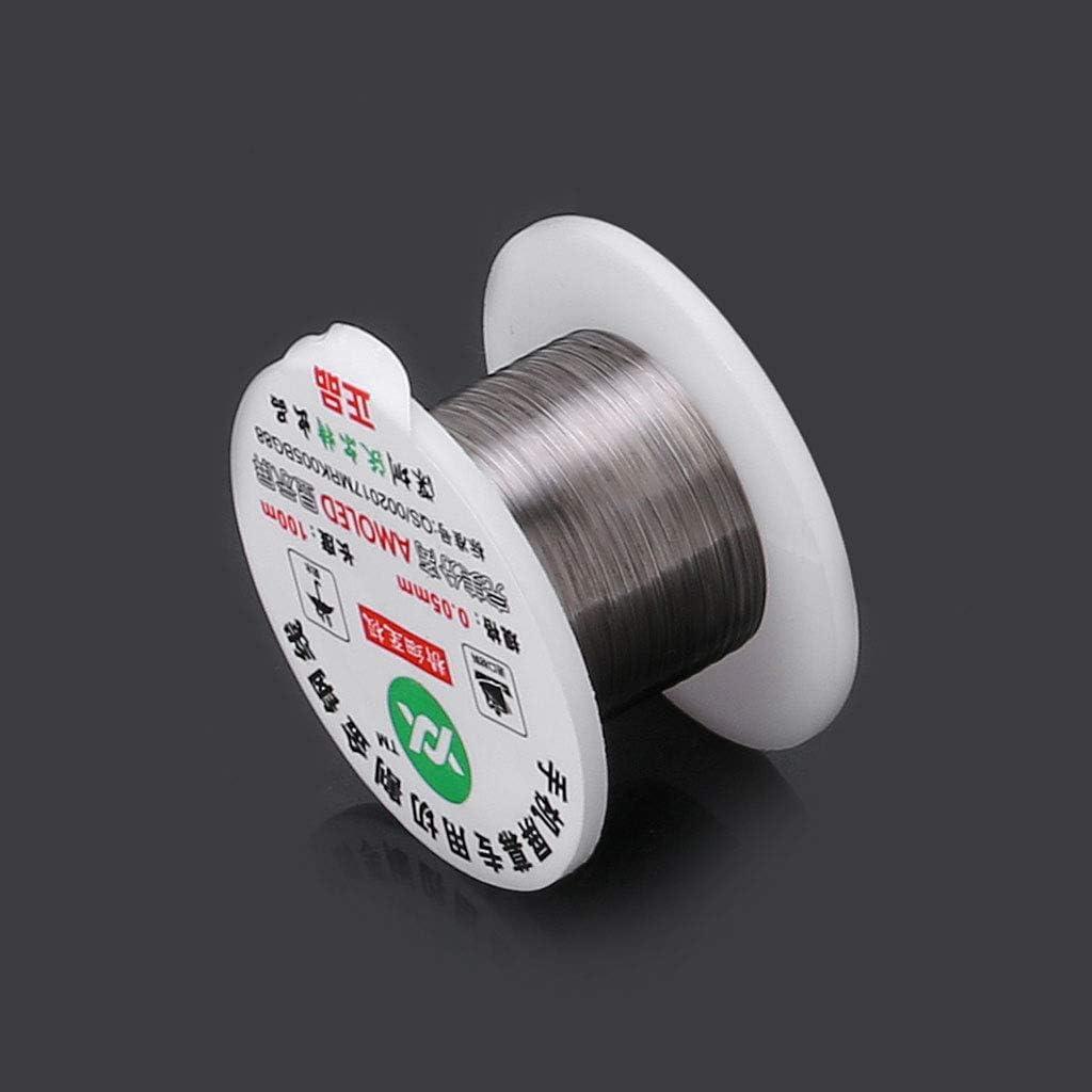 Or 0.08mm JOYKK Ligne de Coupe de Fil en molybd/ène 100m alli/é R/éparation de s/éparateur d/écran LCD