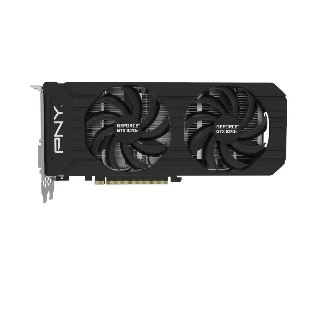 PNY GTX 1070Ti GeForce GTX 1070 Ti 8 GB GDDR5 - Tarjeta gráfica (GeForce GTX 1070 Ti, 8 GB, GDDR5, 256 bit, 7680 x 4320 Pixeles, PCI Express x16 3.0): ...