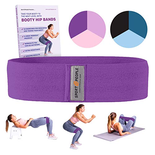 8587a6ada67f3 Sport2People Exercise Band for Legs and Butt with Free 4-Week Booty ...