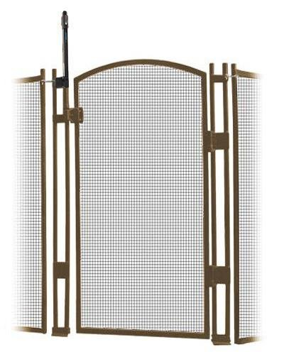 Sentry Safety Pool Fence Visiguard 5' Tall Self-Closing/Self Latching Pool Fence Child Safety Gate (Brown) - Safety Fence Gate