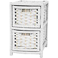 17 Natural Fiber Occasional Chest of Drawers White