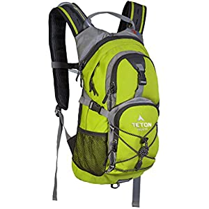 TETON Sports Oasis 1100 2 Liter Hydration Backpack Perfect for Biking, Hiking, Climbing, and Hunting; Bright Green