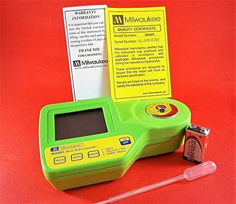 Hergestellt in Europa Brix//Oe//kmw 3 Skalen und ATC Digitales Refraktometer 0-50/% Brix f/ür Wein Most und Bier