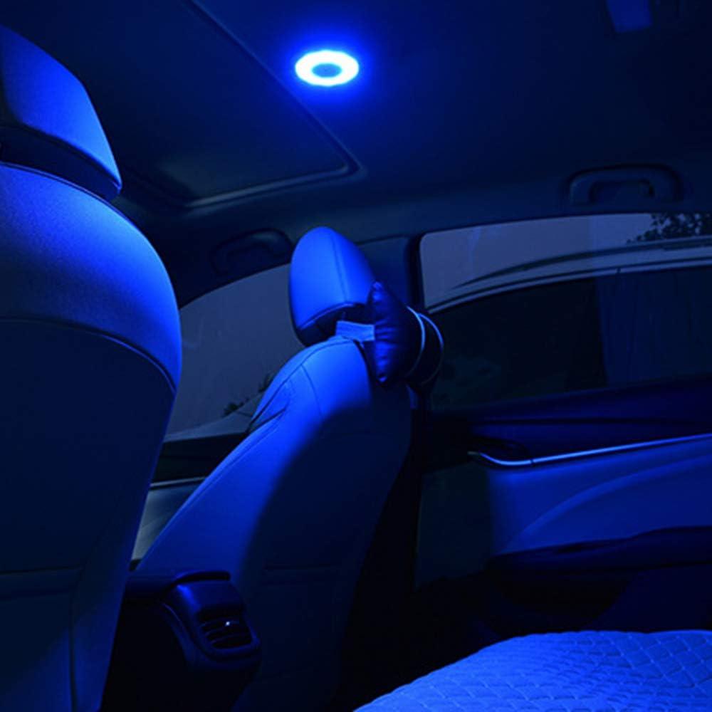LED Voiture Int/érieur Lampe de Lecture Automatique USB de Charge Toit Aimant de Voiture Lumi/ère du Soleil Tronc V/éhicule Int/érieur Toit Lumi/ère Carrfan