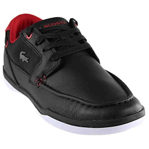 af898c8f5a41 Lacoste Men s Deck-minimal-317 Sneakers Shoes Black Red 9.5 D(M) US ...