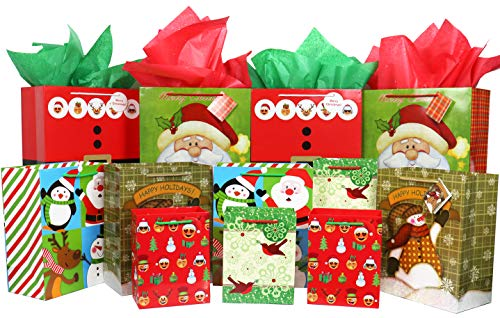 Christmas Gift Bags Bulk Set Includes 4 Extra Large 4