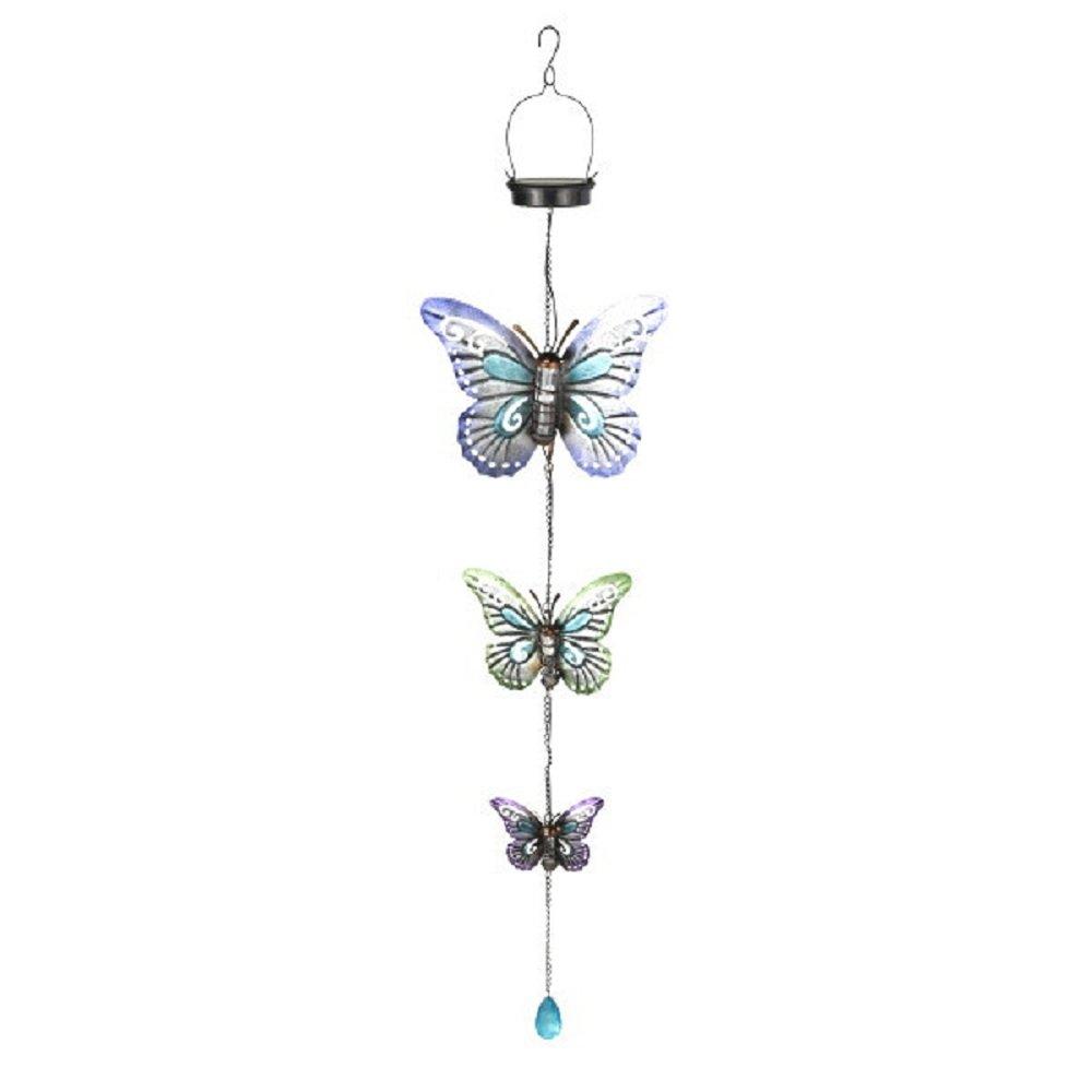 Grasslands Road Solar Triple Butterfly Hanging Decor