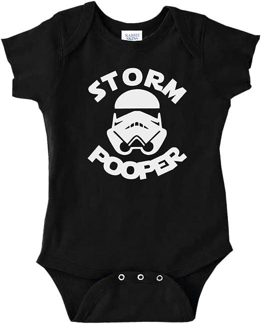 Storm Pooper Dark Side 0-24 Funny Baby Shower Gift Bodysuits Babygrow Star Wars
