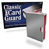 Magic Makers Classic Card Guard, Stainless Steel Poker Size Playing Card Deck Protector