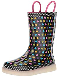Western Chief Kids' LED Light-up Waterproof Rechargeable Rain Boots